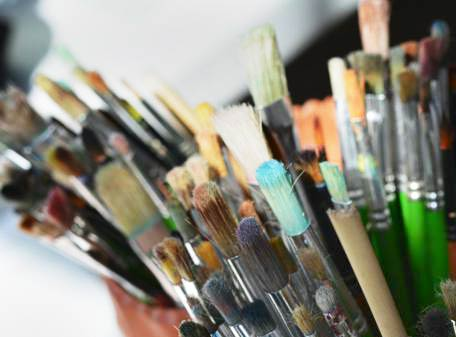 Paint brushes at The Art Room