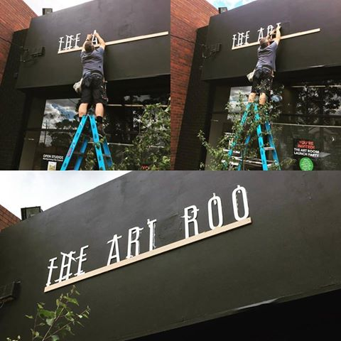 The Art Room Gets Its New Sign.