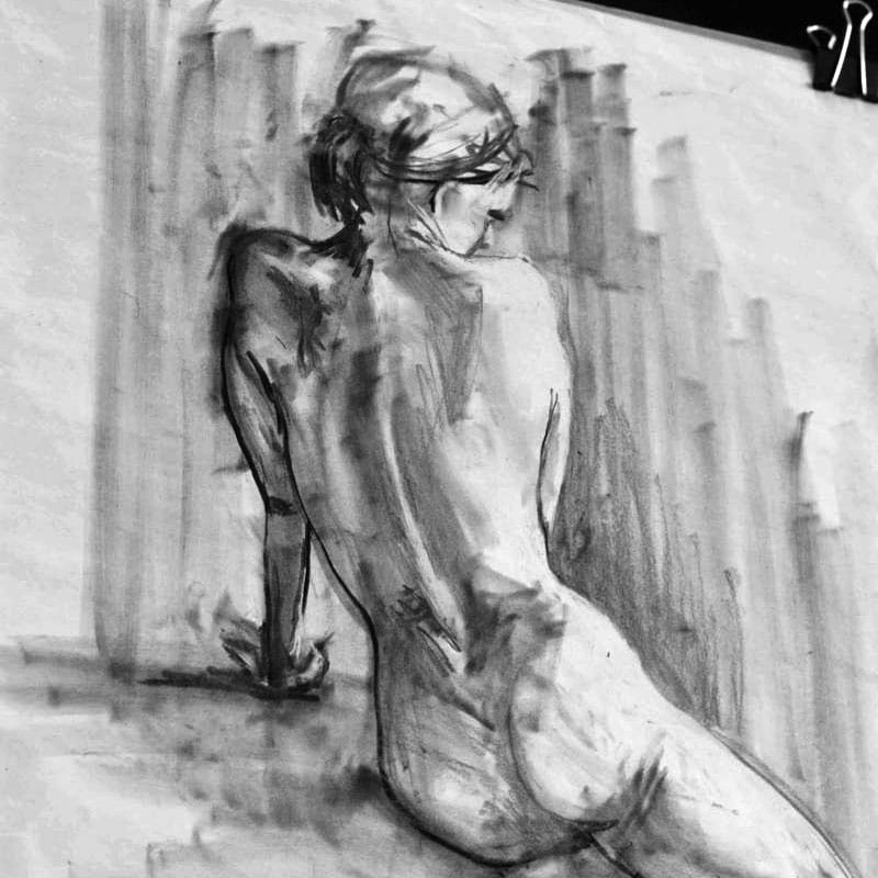 Boxing day life drawing image