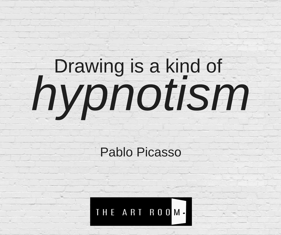 """Drawing is a kind of hypnotism"" Pablo Picasso"