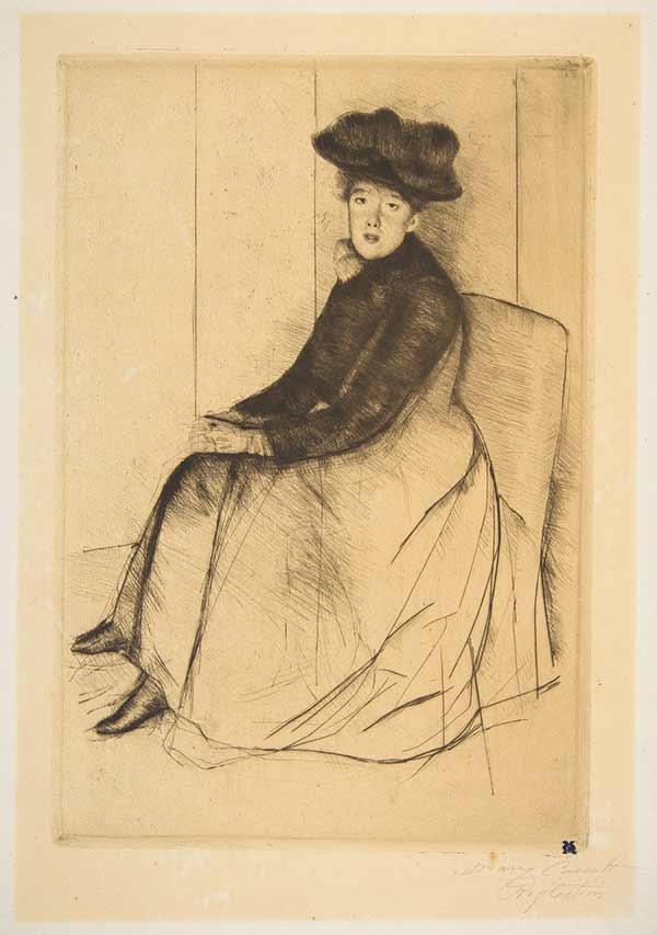 Reflection by Mary Cassatt (1890)