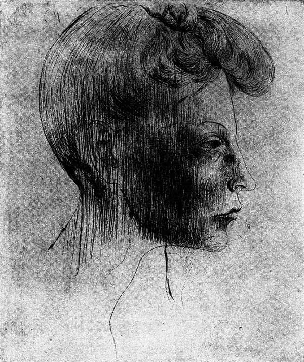 Profile of a Woman's Head by Pablo Picasso (1905)