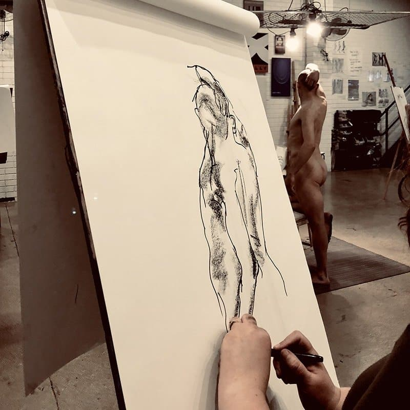 Intermediate life drawing course at The Art Room, Melbourne, with artist Nic Plowman