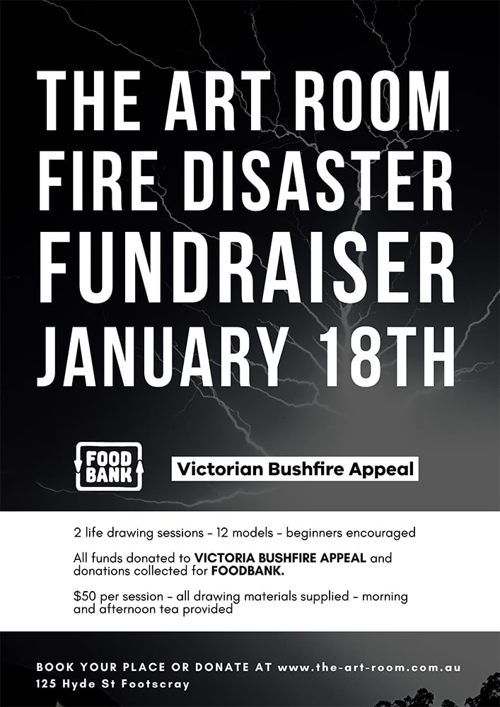 Life Drawing Fundraiser For The Bushfire Appeal